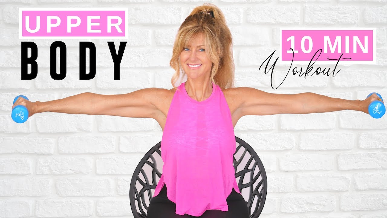 10 Minute Seated Upper Body Workout With Weights For Women Over 50!