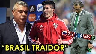 TAPIA explotó contra BRASIL + ¿LOLLO a COLÓN? + MAL arranque para PIZZI: RUSIA 5-0 Arabia Saudita