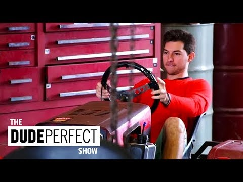 Thumbnail: Dude Perfect Preps for The Ultimate Lawn Mower Racing Battle