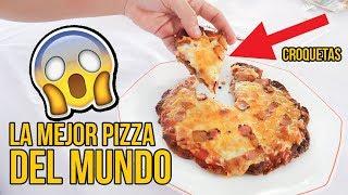 Cómo hacer una PIZZA con BASE DE CROQUETAS - LA MEJOR PIZZA DEL MUNDO