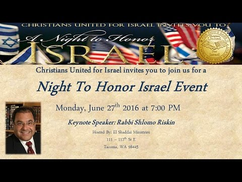 Monday, June 27, 2016: Night to Honor Israel