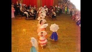 выпускной бал 4 класс Николаев танец с зонтиками