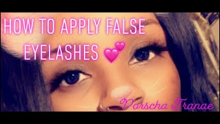 How to apply false eyelashes 💕