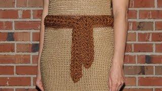 Как связать пояс к платью - урок вязания крючком