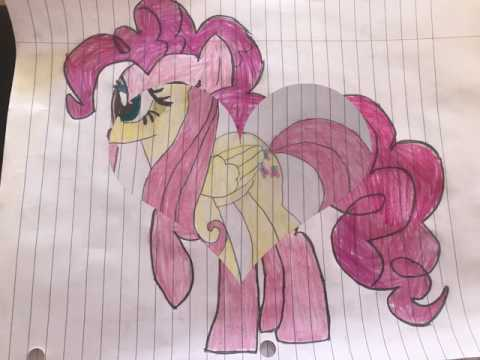 My Drawings of Pinkie Pie and Fluttershy (Dedicated to Andrea Libman)