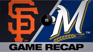 Beede leads Giants to 8-3 win over Brewers | Giants-Brewers Game Highlights 7/14/19