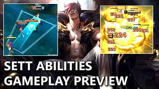 SETT ABILITIES Gameplay Preview (New Bruiser DUNK Champion)