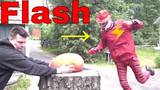 [928.06 KB] The Flash nine punches second giant water balloon 1000 fps Slow Mo