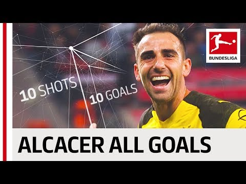 Paco Alcacer - 10 Shots on Target - 10 Goals - Record Breaker