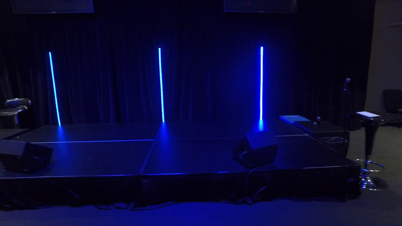 Stage Design Working With Led Tape And Making Mobile Poles