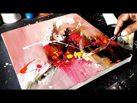 Amazing and Easy Abstract Painting technique in Acrylics / Demo / Project 365 days / Day #026
