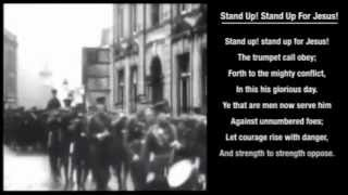 Stand Up, Stand Up For Jesus hymn with on-screen LYRICS