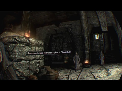 PART 2- LEARNING THE DRAGONBORN POWERS   Skyrim VR   GAMER JEFFRO VR