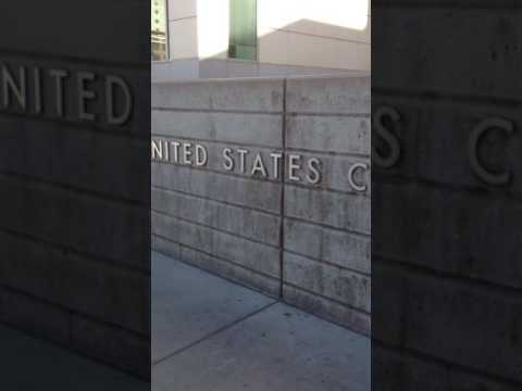 United States Federal Court wall-papered