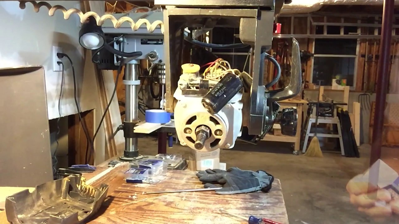 replace capacitor on craftsman model 113 radial arm saw youtube craftsman compound miter saw wiring diagram [ 1280 x 720 Pixel ]