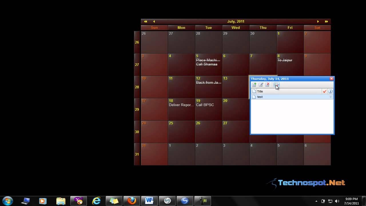 Calendar Planner In Windows : Calendar planner for windows youtube