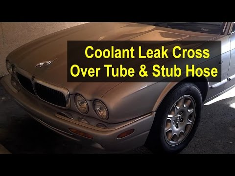 Coolant cross over tube assembly replacement with stub hose, Jaguar XJ8 1997 – 2003 – VOTD