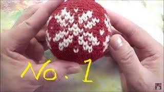 カギ針で編むクリスマスボール(Christmas Ball) NO .1 thumbnail