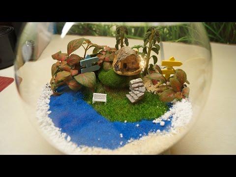 DIY: ПОДАРОК СВОИМИ РУКАМИ - ФЛОРАРИУМ! Цветы в стеклянной вазе