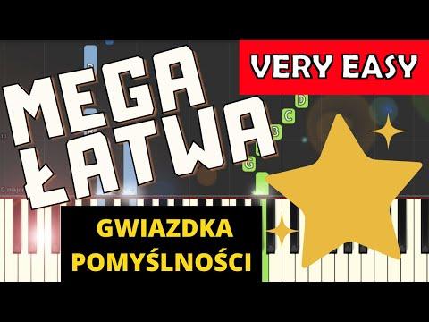 🎹 Gwiazdka pomyślności - Piano Tutorial (MEGA ŁATWA wersja) 🎹