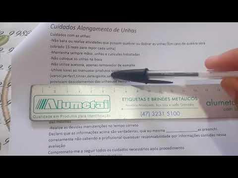 MINHA FICHA DE CUIDADOS COM AS UNHAS