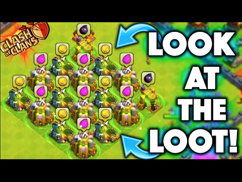 Clash of Clans - LOOK AT THE LOOT! FARMING BETTER THAN EVER? How To Farm Mega Loot Post Update!
