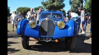 Jay Leno's 1937 Bugatti Type 57 SC Atlantic at the French and Italian show