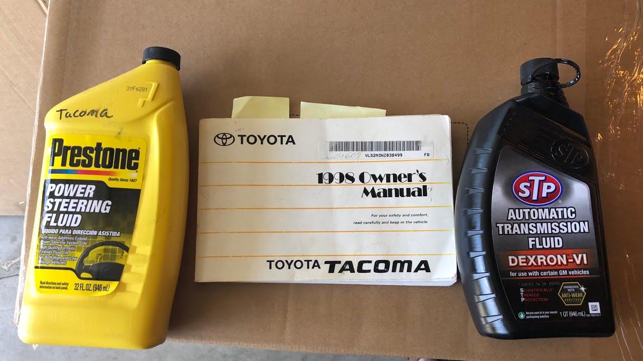 Power steering flush Toyota Tacoma four cylinder 1998