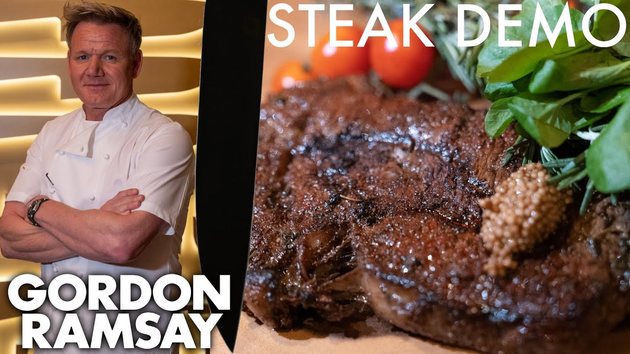 Gordon Ramsay Shows a NFL Star How To Make The Perfect Ribeye