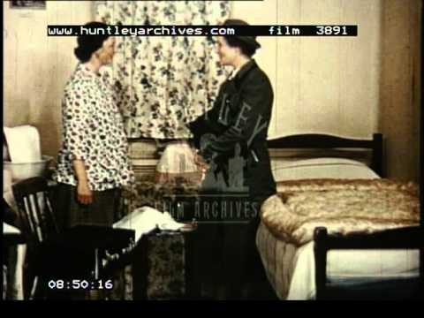 Midwives and Midwife training, 1950's -- Film 3891