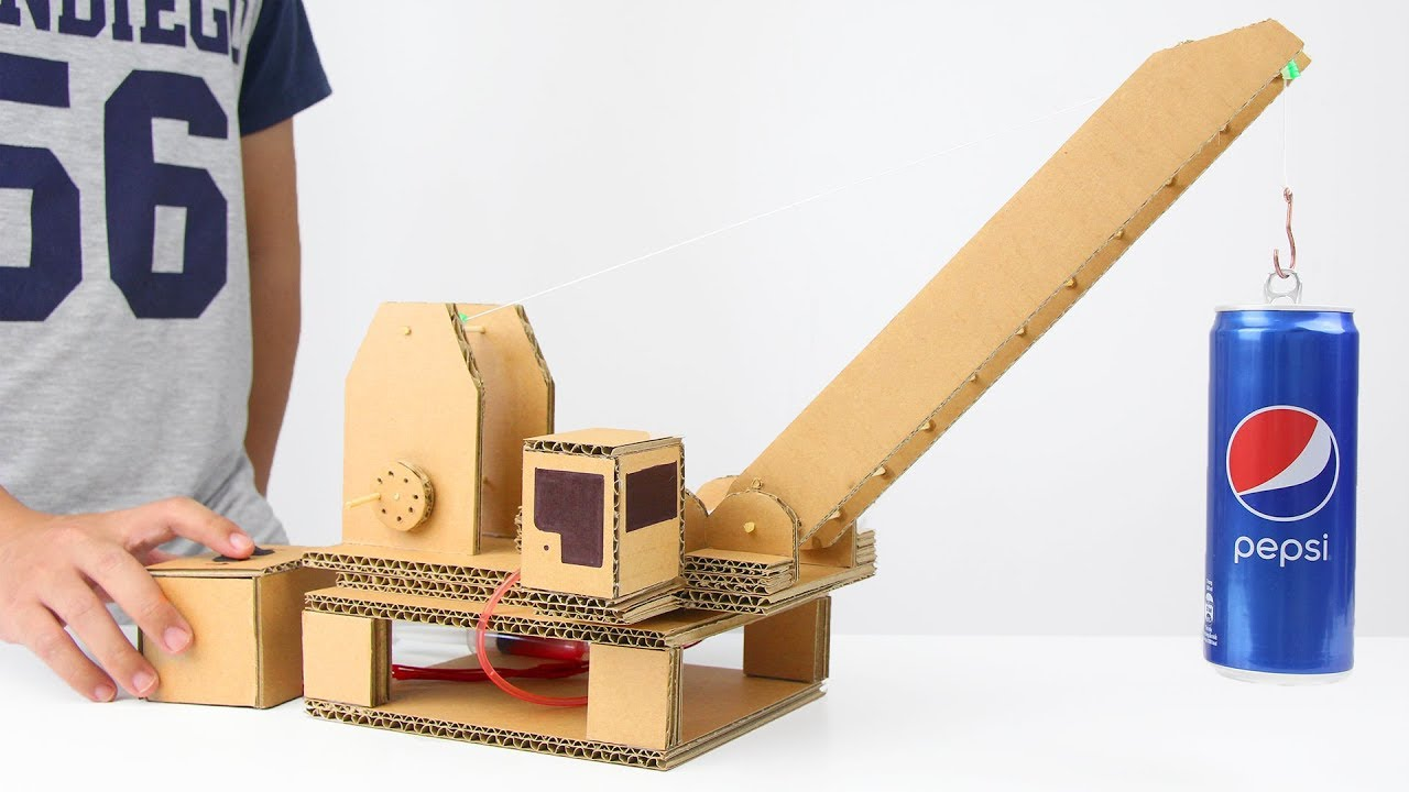 Cardboard Hydraulic Ar : How to make hydraulic powered crane from cardboard youtube