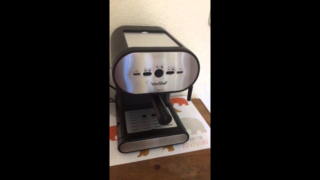 Sarah Reviews The Vonshef Espresso Machine Youtube