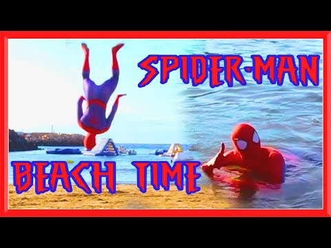 SPIDERMAN FLIPS AT THE BEACH in Real Life | Flips & Kicks