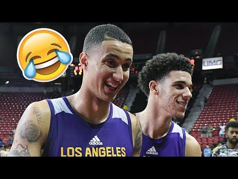 LONZO BALL AND KYLE KUZMA FUNNIEST AND BEST MOMENTS 2017! LIGHTSKIN CONNECTION!