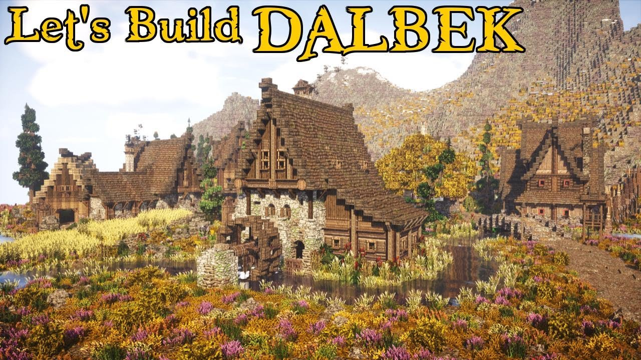 Small Nordic Water Mill | Dalbek | Part 2 - Nordic Minecraft Town