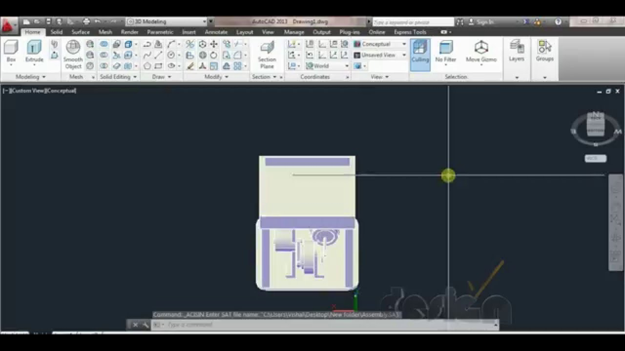 Convert 3D Solidworks files to AutoCAD [SolidWorks