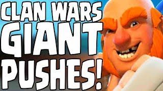 Clan Wars: GIANT PUSHES! - Clash Royale