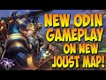 NEW ODIN REWORK GAMEPLAY ON THE NEW JOUST MAP! ODIN DUEL FRAGS! - Masters Ranked Duel - SMITE