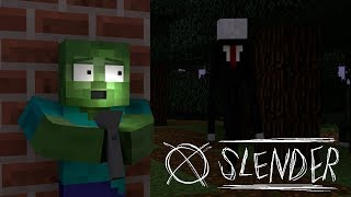 Monster School : SLENDERMAN HORROR GAME CHALLENGE - Minecraft Animation