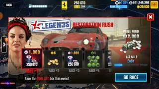 CSR 2 | Legends Update All Cars!! Getting the Ferrari GTO in Garage!