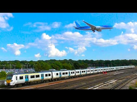 Trains And Planes At Gatwick Airport - Monday 10th July 2017