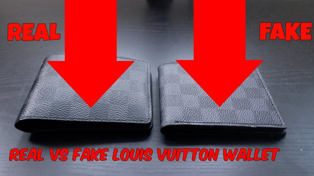 41e1335d8401 HOW TO TELL REAL VS FAKE LOUIS VUITTON MENS WALLET - YouTube