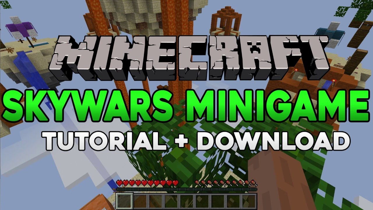 Skywars Minigame Map for Minecraft 1.9.2/1.9 | Download and Installation Tutorial