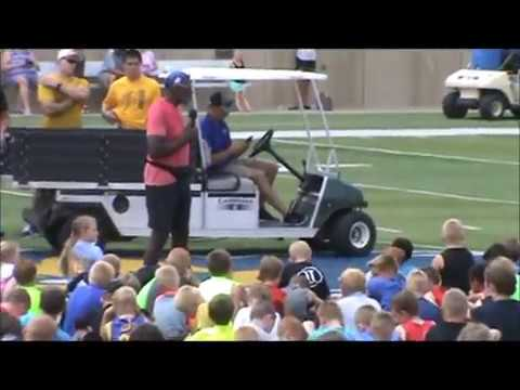 CMGUS Productions: 2016 Minnesota Vikings Alan Page Chad Greenway at Augustana SD Youth Camp
