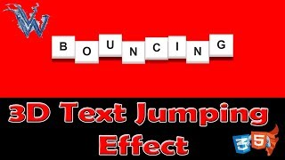 Jumping text css animation | CSS animation effects tutorial Bouncing By Amazing Techno Tutorials