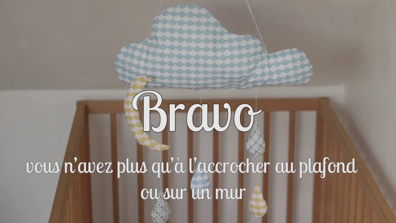 Mobile Bébé À Suspendre Au Plafond rozyli, comment coudre un joli mobile nuage
