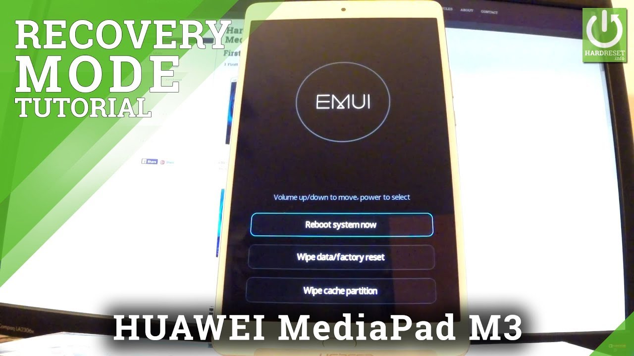 EMUI Mode in HUAWEI MediaPad M3 - Enter / Quit EMUI Recovery