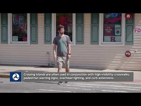 Pedestrian Crossing Islands Countermeasure