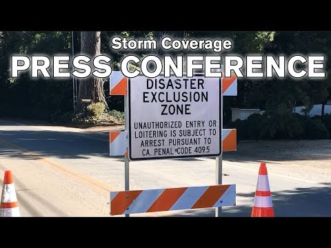 LIVE: Santa Barbara County officials hold press conference due to approaching storm - 4 p.m.