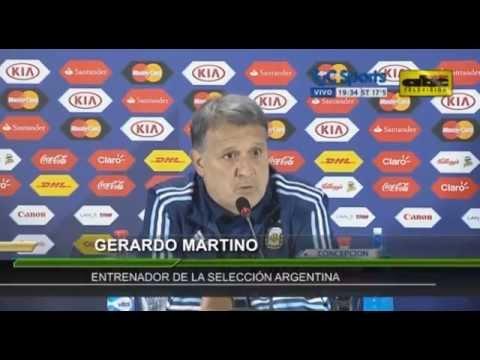 Gerardo Martino, DT de Argentina - Previa de semifinal de Copa América vs. Paraguay